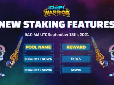 [DeFi Warrior] New Staking Features Open Now